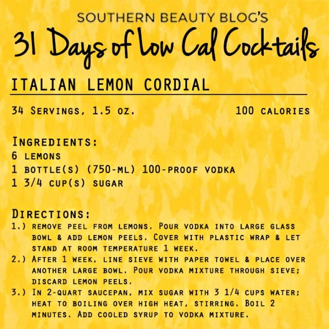 Italian Lemon Cordial